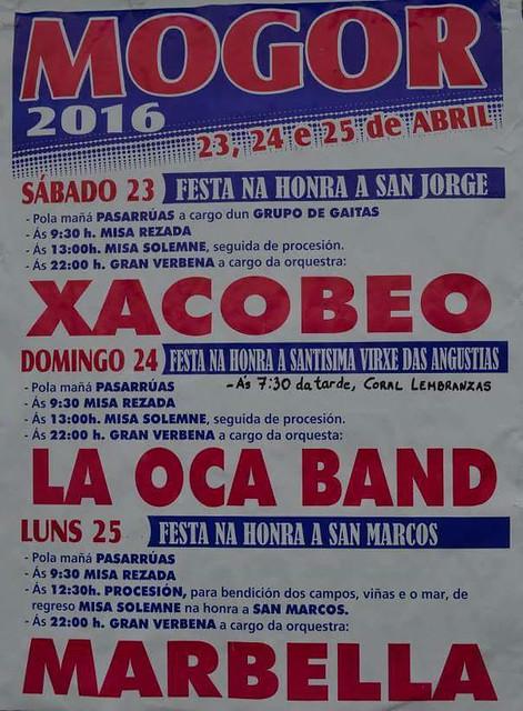 Marín 2016 - Festas de San Xurxo en Mogor - cartel