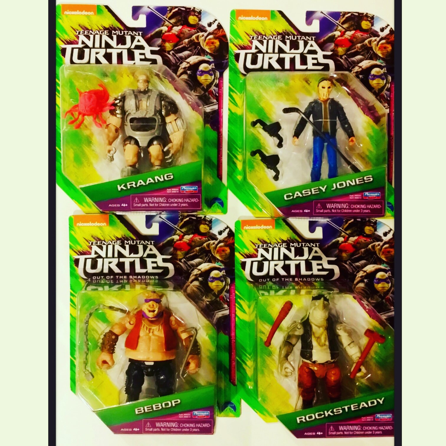 #tmnt #teenagemutantninjaturtles #outoftheshadows #actionfigures #bebop #rocksteady #caseyjones #kraang #playmatestoys #geekshavethemostfun