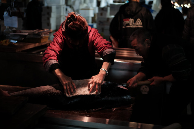Dismantling of tuna