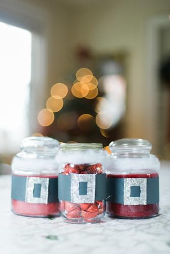 Santa jars.