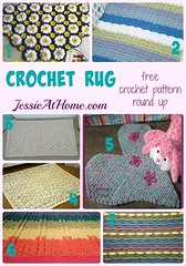 Crochet Rug free crochet pattern round up by Jessie At Home