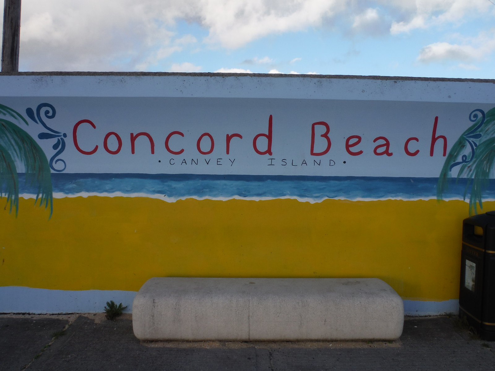 Concord Beach Mural, Canvey Island SWC Walk 258 Benfleet Circular (via Canvey Island)