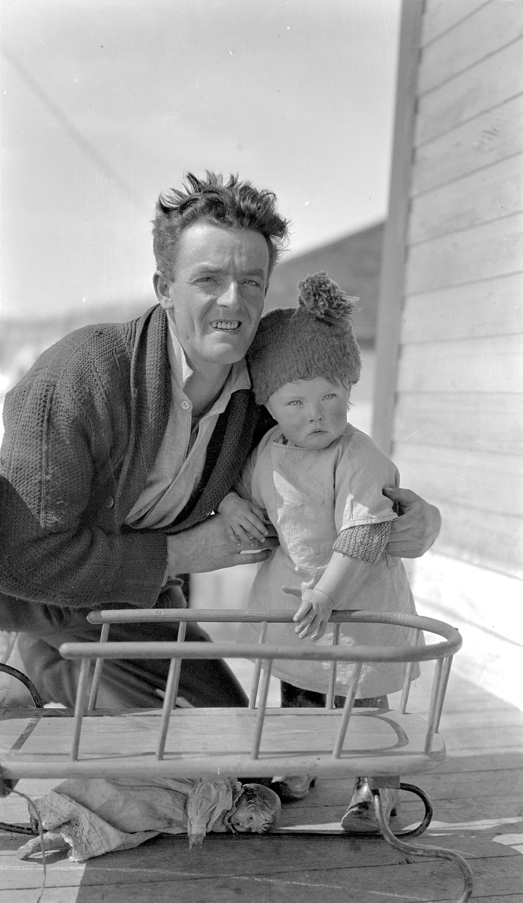 Albert Wright with daughter Nellie