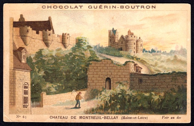 French Tradecard - Chateau de Montreuil-Bellay