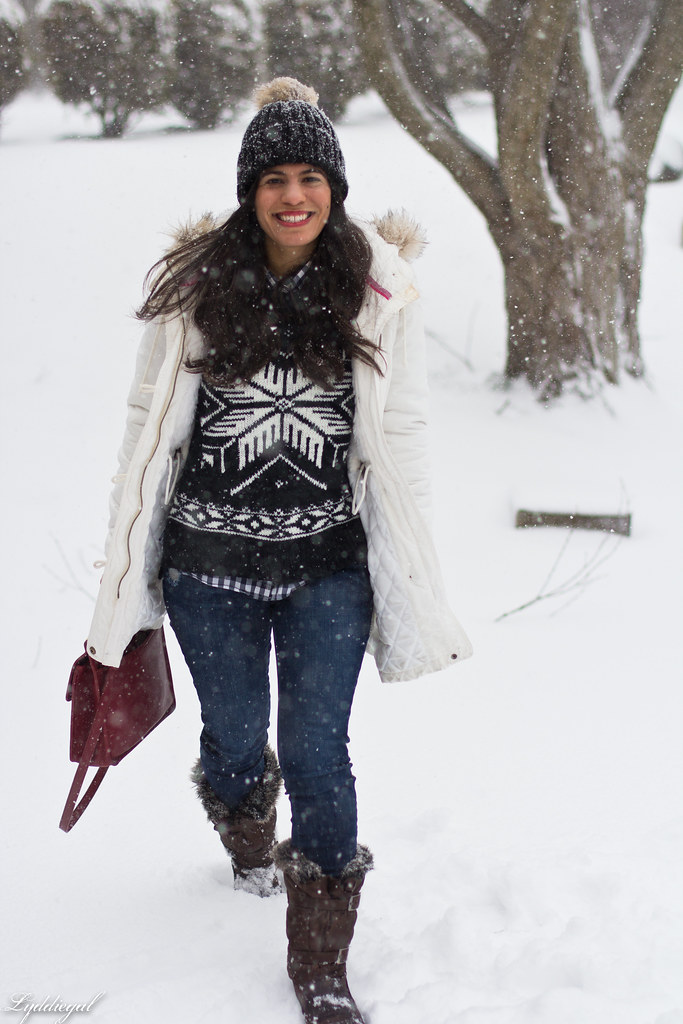 nordic sweater, denim, snow boots, white parka-2.jpg