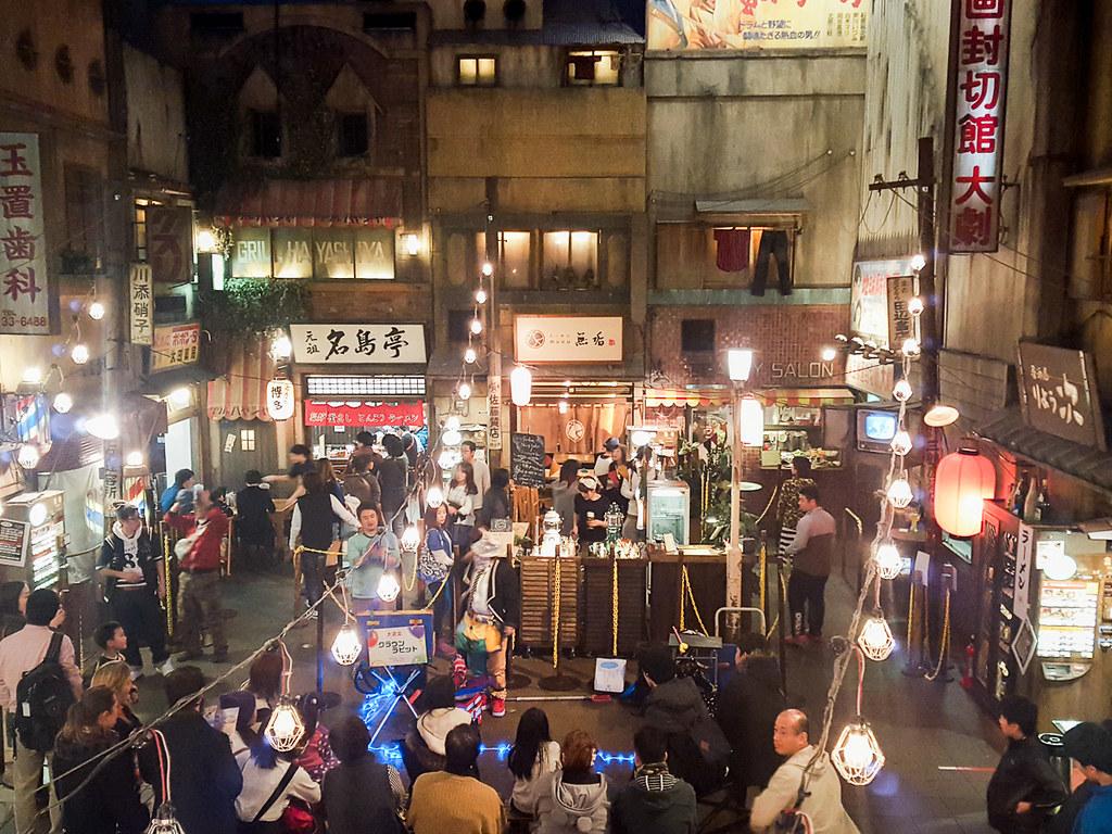 Ramen Shops in Shin-Yokohama Raumen Museum