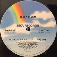 BOBBY BROWN:ROCK WIT'CHA(LABEL SIDE-A)