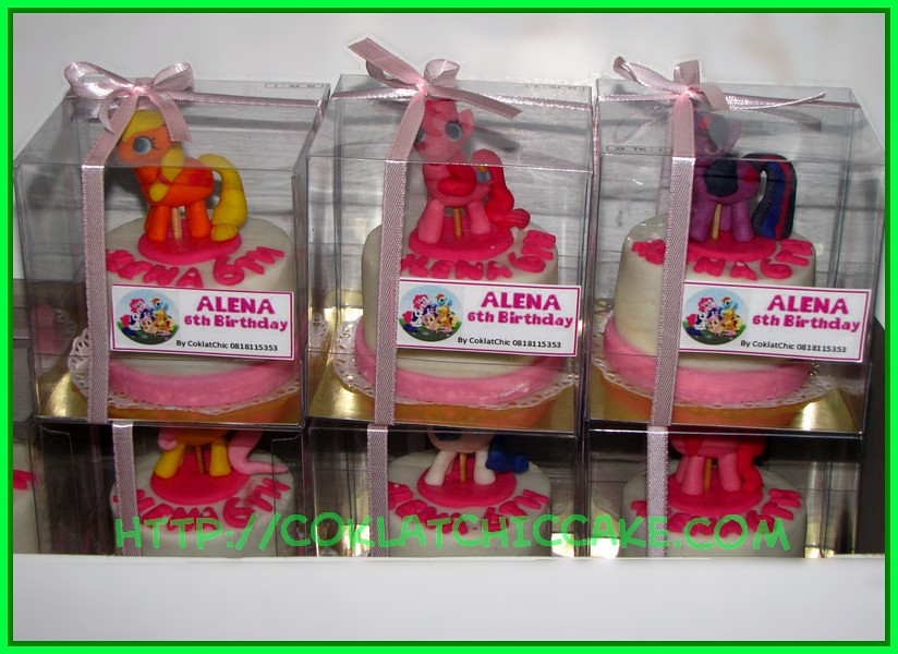 Minicake my little pony dengan packing