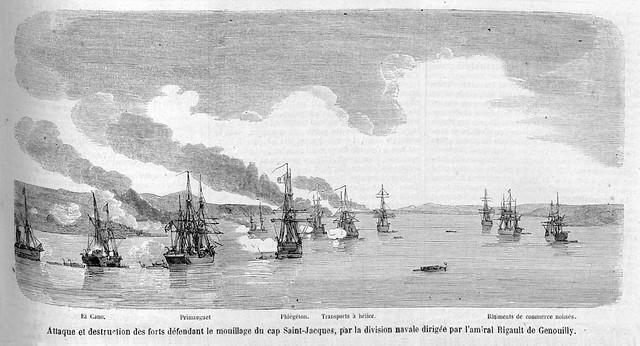 LE MONDE ILLUSTRÉ 23 Avril 1859 - Expédition de Saigon - Cuộc viễn chinh Sài Gòn
