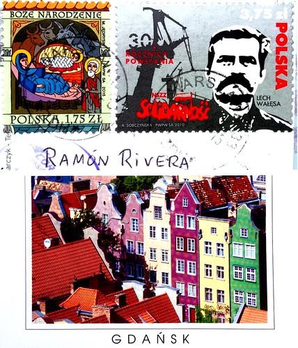 Poland stamps - Lech Walesa