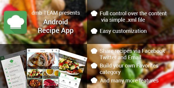 CodeCanyon Android Recipe App v2.0