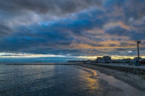 ocean winter sunset sky seascape beach clouds geotagged evening sand nikon unitedstates connecticut atlanticocean hdr longislandsound westbrook nikond5300