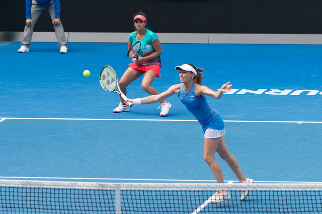 Sania Mirza & Martina Hingis at the Australian Open 2016