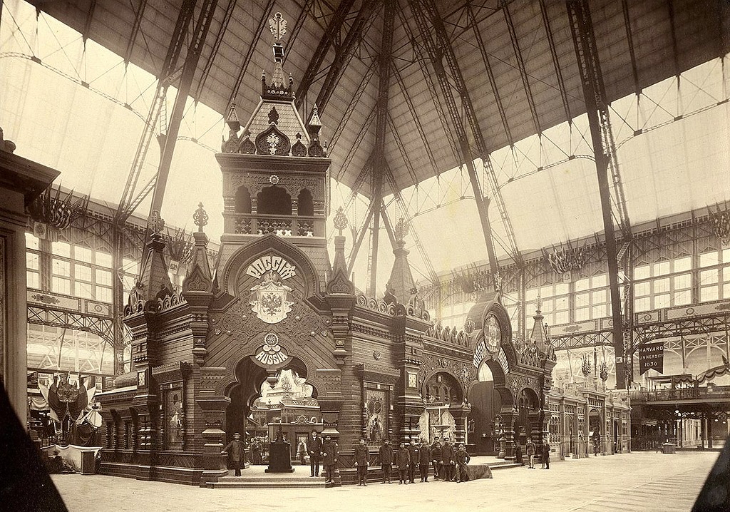 Russian pavilion at the Chicago World's Fair in 1893