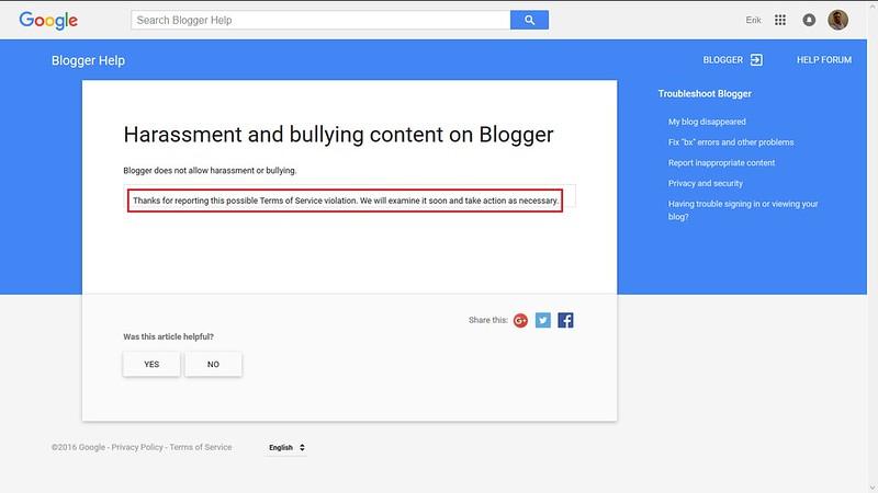 klagde på blogg til blogger