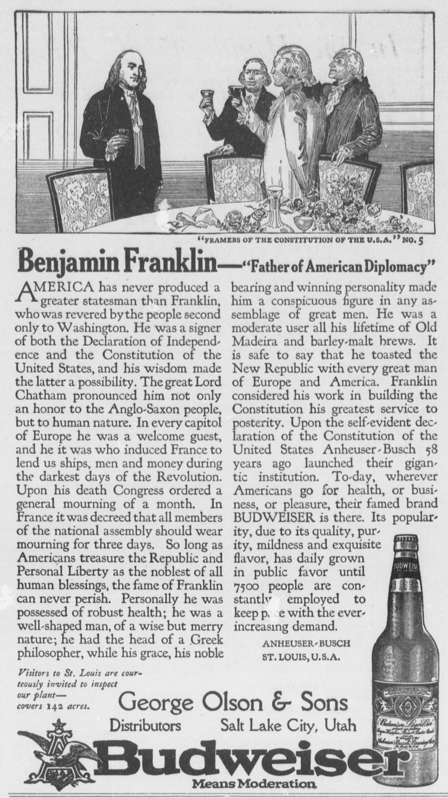 Bud-framers-1915-ben-franklin