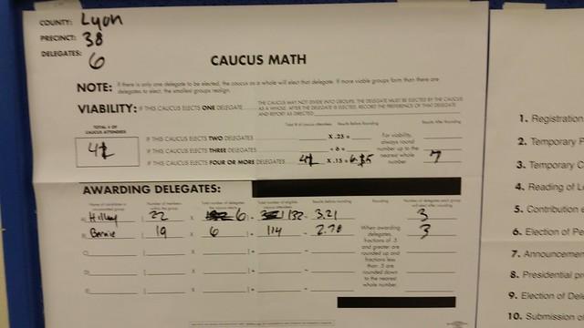 Nevada Caucus 2016: Lyon County Precinct 38