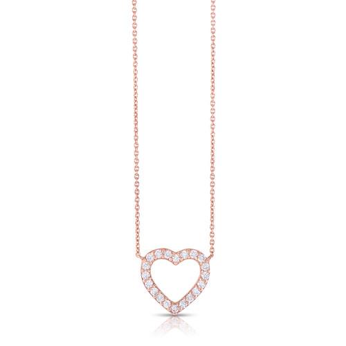 diamond heart pendant in rose gold (no brand) $595