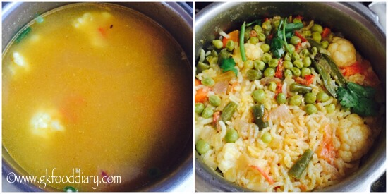 Vegetables Dal Khichdi Recipe for Babies, Toddlers and Kids - step 6