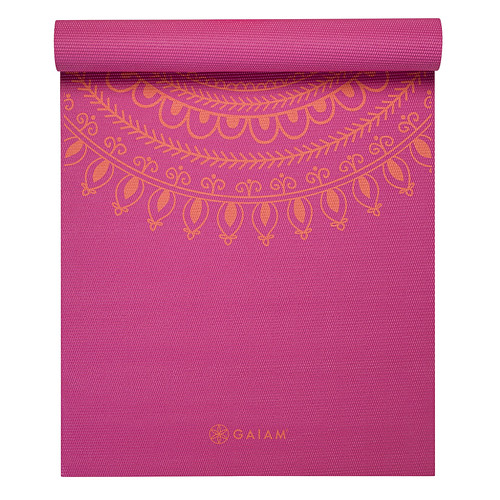 Gaiam 3mm Classic Printed Yoga Mat Pink 2