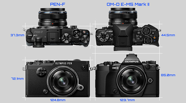 20160213_04_OLYMPUS PEN-F & OM-D E-M5 Mark II Side-by-side comparison