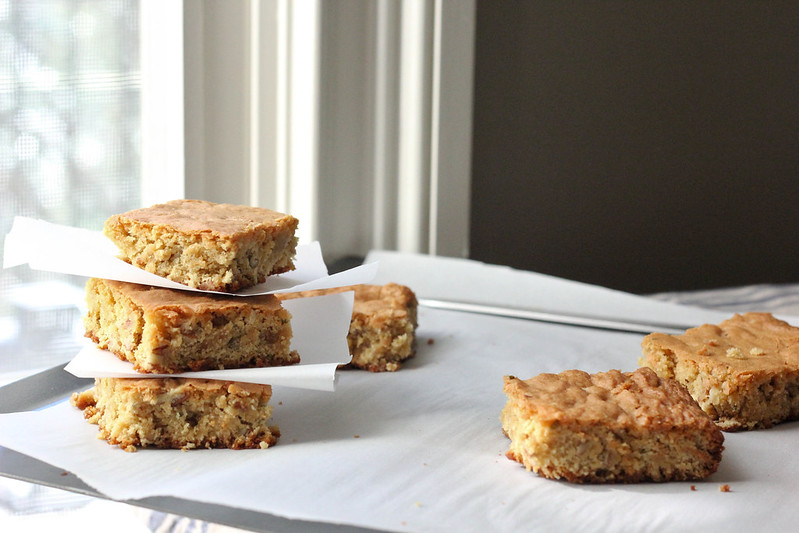 Rosemary Pecan Blondies | Southern Soufflé @Reynolds Kitchens