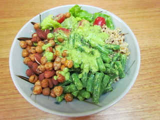 Two-Bean Salad Bowl with Pesto Dressing