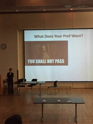 What does your prof want? presentation slide