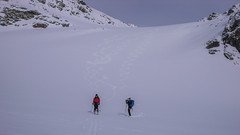 Zjazd lodoowcem Verdetta di Fellaria z przełęczy Passo Marinelli Orientale - Piotr i Tomek.