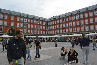 Imagine de Plaza Mayor lângă Madrid. madrid spain harveybarrison hbarrison