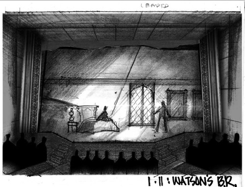 Scenic Design for BASKERVILLE: A SHERLOCK HOLMES MYSTERY
