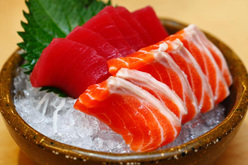 Mitasu Japanese buffet Salmon Tuna Sashimi