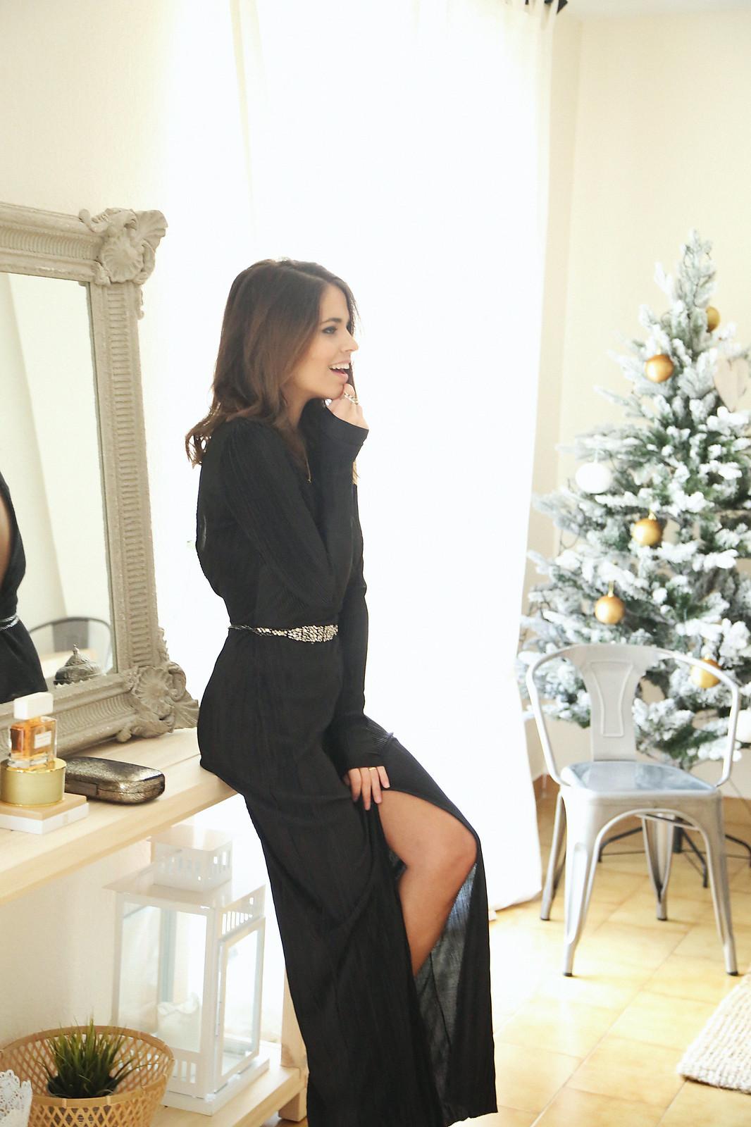 majorica joyas black long dress - jessie chanes 11