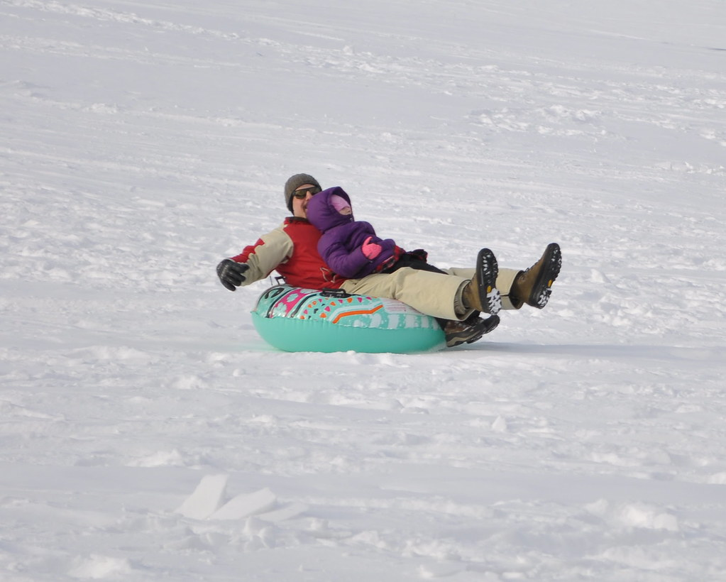 Sledding in Woodstock
