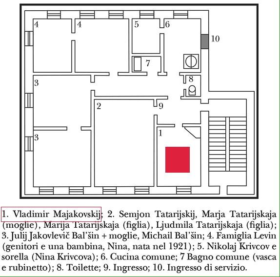 Majakovskji pianta appartamento