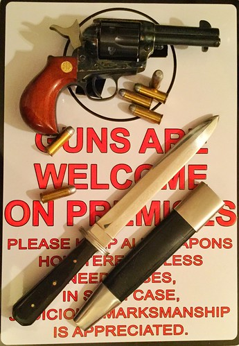 .45LC and Boot Knife with Sign.