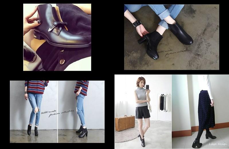 黑色短靴10