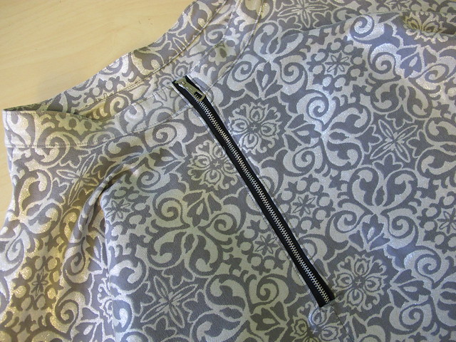 Silk Georgette B5526 + Stretch Brocade Circle Skirt