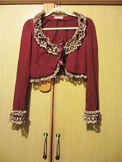 OUTER IW Millefeuille bolero bordeaux