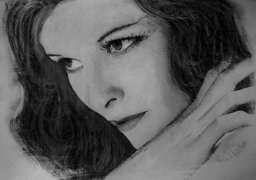 a young Katharine Hepburn