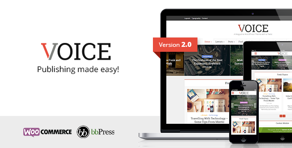 Voice v2.2.1 - Clean News/Magazine WordPress Theme