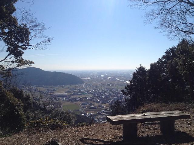 城台山 揖斐城址 本丸からの眺望