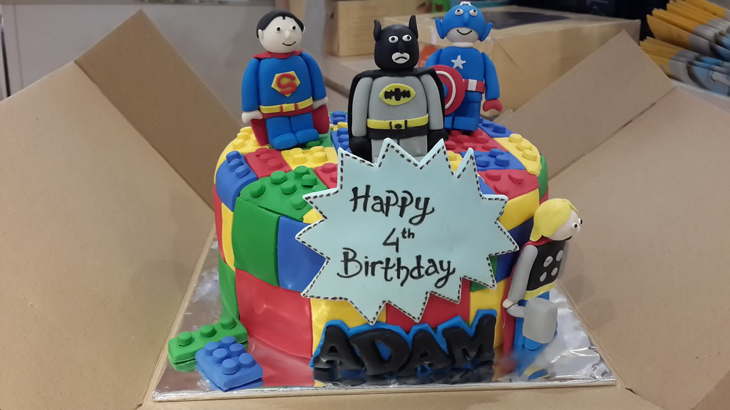 Lego Superhero Birthday Cake Jakarta A Photo On Flickriver