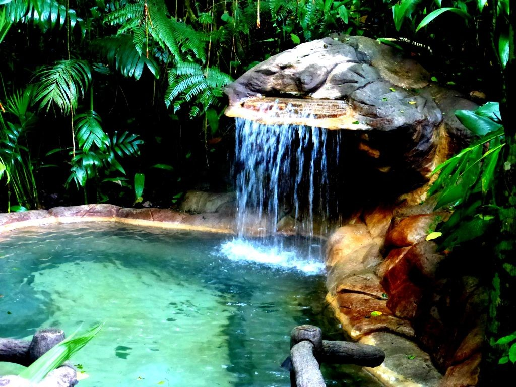 Relaxing Warm Waterfall Pool