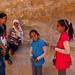 Playful smiles of Bedouin children in Siq al Barid Jordan by Pilgrim Traveler