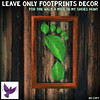 [ free bird ] Leave Only Footprints Framed Decor