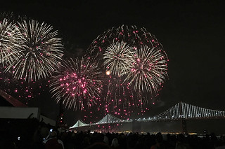 Super Bowl City - Fireworks