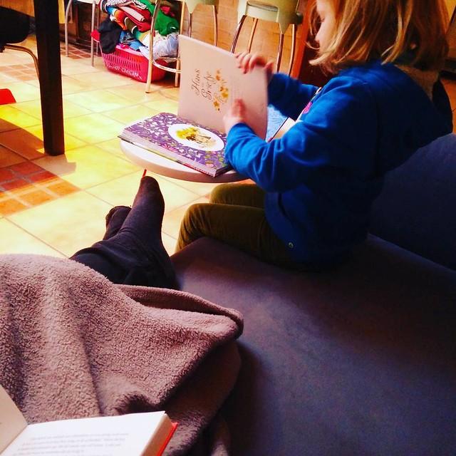 Beter gaat het niet worden vandaag #booklovers (tenzij er plots kabouters opdagen om die laatste mand was op te ruimen)