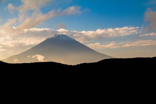 mountain japan skyline volcano scene