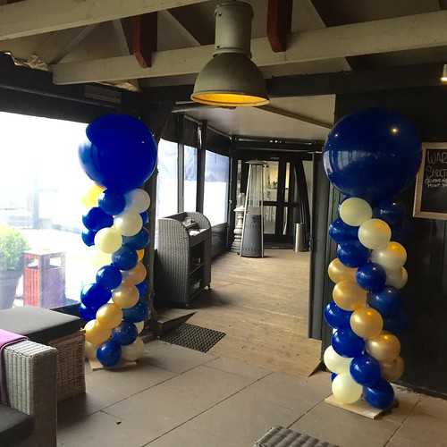 Ballonpilaar Breed Rond Grand Cafe Abel Poortugaal